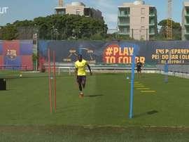 VIDEO: Dembélé continues recovery at Ciutat Esportiva. DUGOUT