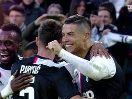 La prima tripletta di Ronaldo in Serie A. Dugout