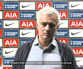 Jose Mourinho was very happy with his Tottenham team after beating Man City. DUGOUT