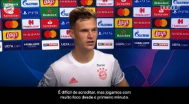 Müller e Kimmich analisam atropelo do Bayern sobre o Barcelona. DUGOUT