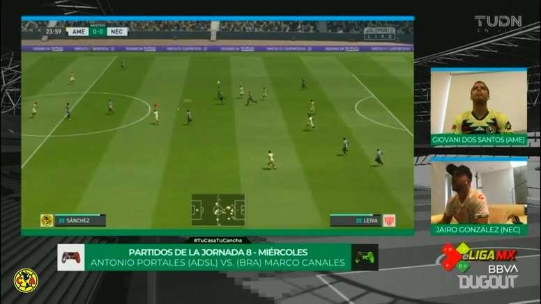 Club América played Nexaca at eSports. DUGOUT