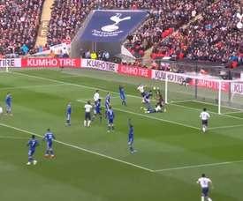 Davinson Sanchez's first Spurs goal came versus Leicester. DUGOUT