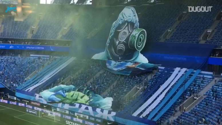 VIDEO: Zenit fans unveil remarkable tifo. DUGOUT