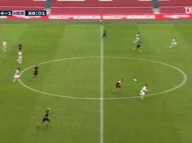 Antony beat the keeper to complete Ajax's 5-1 win over Heerenveen. DUGOUT
