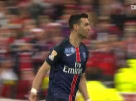 La victoire de Paris face à Lille en finale de la Coupe de la Ligue 2016. DUGOUT