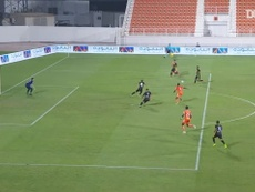 Ittihad Kalba scored an 89th minute goal to win at Ajman. DUGOUT