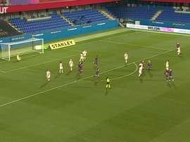 Mapi Leon scored a stunner as Barca thrashed Rayo 7-0. DUGOUT