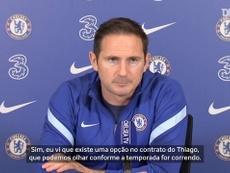 Lampard revela opção de renovação no contrato de Thiago Silva com o Chelsea. DUGOUT
