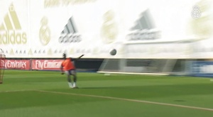 Real Madrid train. DUGOUT