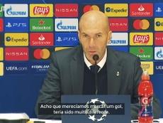 Zidane diz que Real não merecia perder para o Shakhtar. DUGOUT