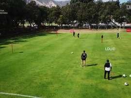 Liga de Quito retomó las prácticas tras el parón. Dugout