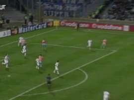 Le but de Niang au Vélodrome contre Porto. dugout