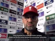 Klopp elogia Thiago na sua estreia pelo Liverpool. DUGOUT