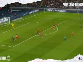 les 18 buts de Kylian Mbappé lors de la saison 2019/2020 de Ligue 1. DUGOUT