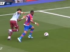 Jordan Ayew gave Crystal Palace the points against 10 man Aston Villa. DUGOUT