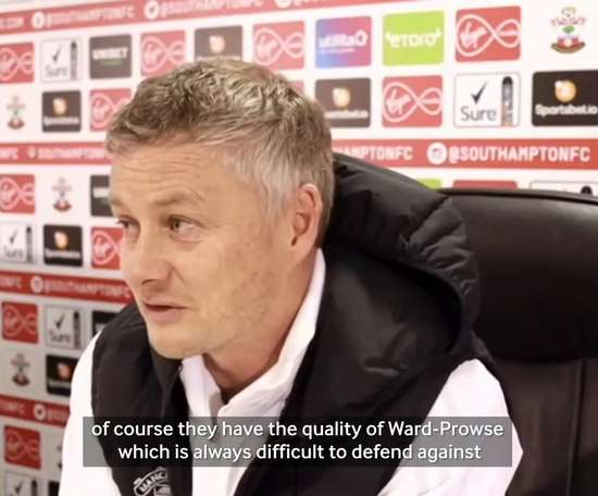 Solskjaer adressed the press. DUGOUT