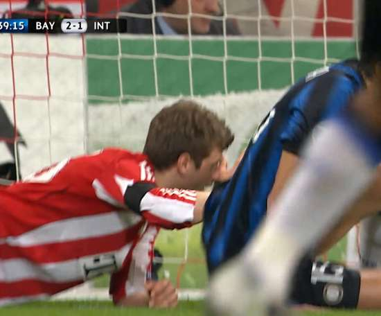 Ranocchia prevented Bayern going 3-1 up on the night in the second leg. DUGOUT