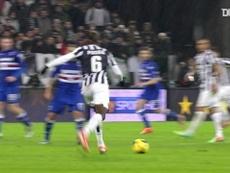 Il goal di Pogba alla Sampdoria. Dugout