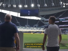 Reguilón conoció su nuevo estadio. DUGOUT