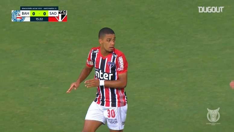 Bahia were easily beaten by Sao Paulo in the Brasileirao. DUGOUT