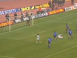 Salvatore Schillaci's incredible bicycle kick vs Hellas Verona. DUGOUT