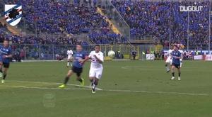 Il goal di Muriel all'Atalanta. Dugout