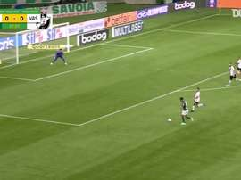 Palmeiras were held to a 1-1 draw by Vasco da Gama in the Brasileirao. DUGOUT