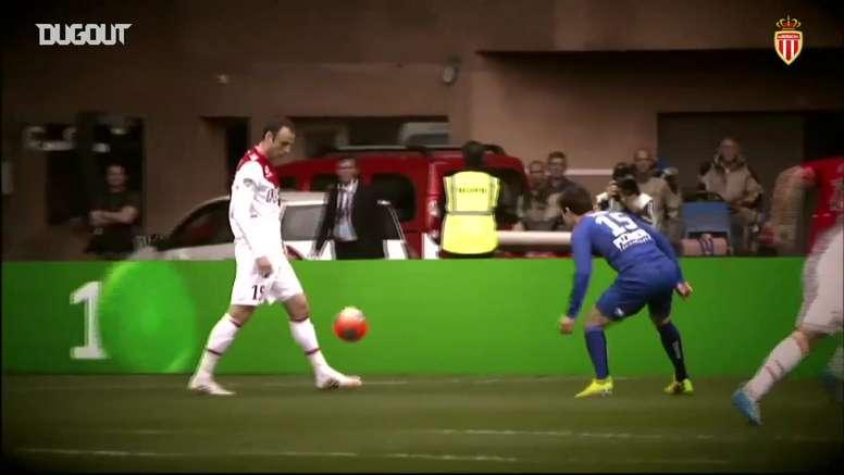 Berbatov scored for Monaco. DUGOUT