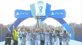 Juventus celebrated in style after winning the Italian Super Cup. DUGOUT