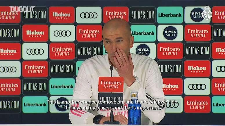 Zinedine Zidane: 'I believe in my players'. DUGOUT