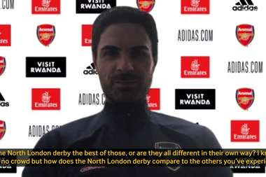 Arteta spoke to the media. DUGOUT