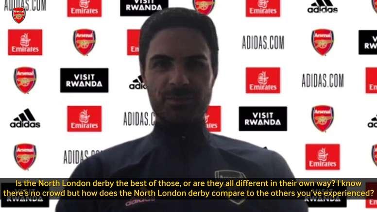 Arteta spoke to the media. DUGOUT