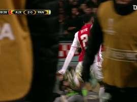 Le premier but de Kenny Tete avec l'Ajax. DUGOUT