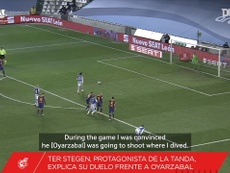 Ter Stegen was Barca's hero in the shootout against Sociedad. DUGOUT