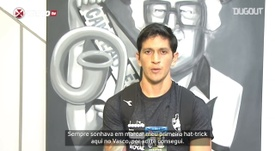 Germán Cano sonhava com 1º hat-trick pelo Vasco. DUGOUT