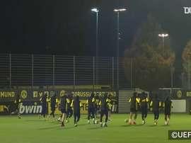 Borussia Dortmund treina com Haaland e companhia para duelo contra Brugge. DUGOUT