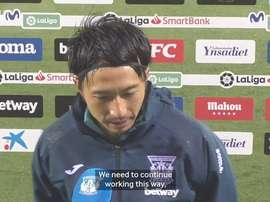 Gaku Shibasaki scored his first goal for Leganes last Sunday. DUGOUT