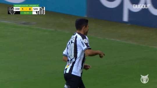 Santos were beaten 2-0 at Atletico Mineiro in the Brasileirao. DUGOUT
