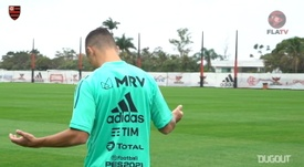 Flamengo trained after the Grêmio match. DUGOUT