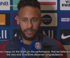Neymar was very happy after making the quarter-finals. DUGOUT