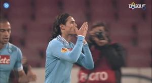 Goles del Nápoles ante equipos neerlandeses. Captura/DUGOUT