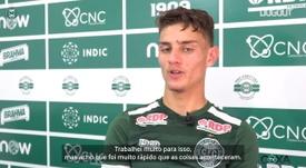 Natanael fala sobre sonho de jogar no Coritiba. DUGOUT