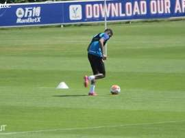 VIDEO: Wilfried Zaha practises dribbling in non-contact training. DUGOUT