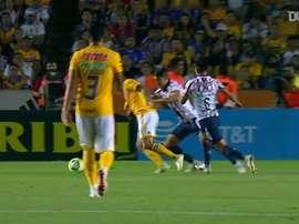 Lucas Zelarayán marcou belo gol em maio de 2019 pelo Tigres. DUGOUT