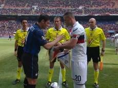 La manita dell'Inter al Genoa. Dugout