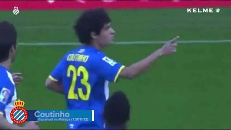 Coutinho scored a lovely free-kick back in 2012 for Espanyol. DUGOUT