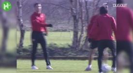 CR7 e Rooney em treino do Manchester United. DUGOUT