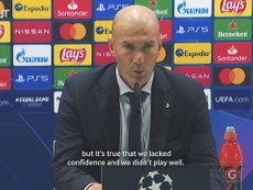 Zinedine Zidane admitted his team did not play well v Shakhtar. DUGOUT