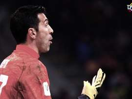 Buffon produced a string of fine saves. DUGOUT