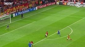 Le superbe but de Cristiano Ronaldo contre Galatasaray. dugout